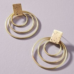 NWT Anthropologie treble circle earrings